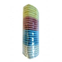 Boite de 25 craies minerales (blanches/assortiment de couleurs)