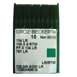 Aiguilles industrielles Groz-Beckert 134 LR tous diamètres (X10 aiguilles)