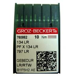 Aiguilles industrielles Groz-Beckert 134 LR GEBEDUR tous diamètres (X10 aiguilles)