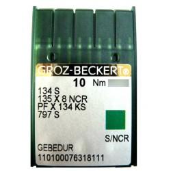 Aiguilles industrielles Groz-Beckert 134 S GEBEDUR tous diamètres (X10 aiguilles)