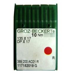 Aiguilles industrielles Groz-Beckert 135x17 R tous diamètres ( X10 aiguilles)