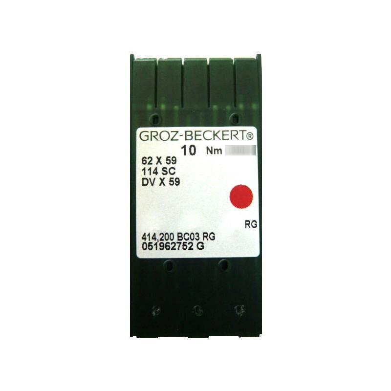 Aiguilles industrielles Groz-Beckert 62x59 RG tous diamètres (X10 aiguilles)