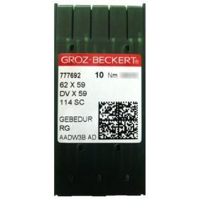 Aiguilles industrielles Groz-Beckert 62x59 RG GEBEDUR tous diamètres (X10 aiguilles