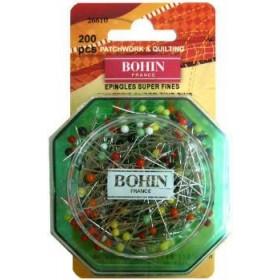 Epingles de couture tête de verre super fines (35mm x 0.55mm) BOHIN