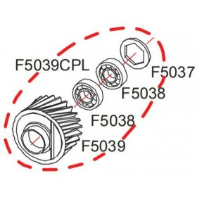 Pignon complet RASOR F5039CPL
