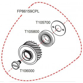 Pignon complet FP RASOR FP86159CPL