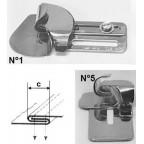 Guide double rabatteur inversé sur mesure pour assemblage de toile /stores/yourtes