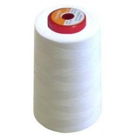 Cône de fil à coudre polyester 5000m blanc