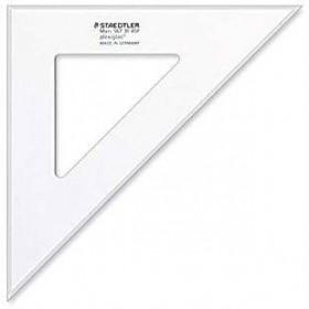 Equerre plexi transparente 31cm 45° STAEDTLER