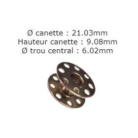 Canette standard a trou juki 270010