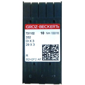 Aiguilles GROZ BECKERT 332 R pour machine a coudre industrielle