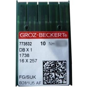 Aiguilles 16X257 ou 16x231 FG/SUK GROZ-BECKERT (X10 aiguilles)