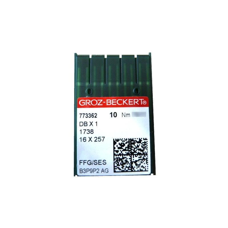 Aiguilles 16X257 ou 16x231 FFG/SES GROZ-BECKERT (X10 aiguilles)