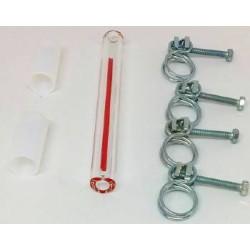 Tube niveau d'eau MINOR (avec joints et colliers)