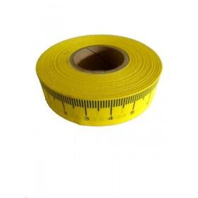 Centimetre adhésif jaune gauche/droite
