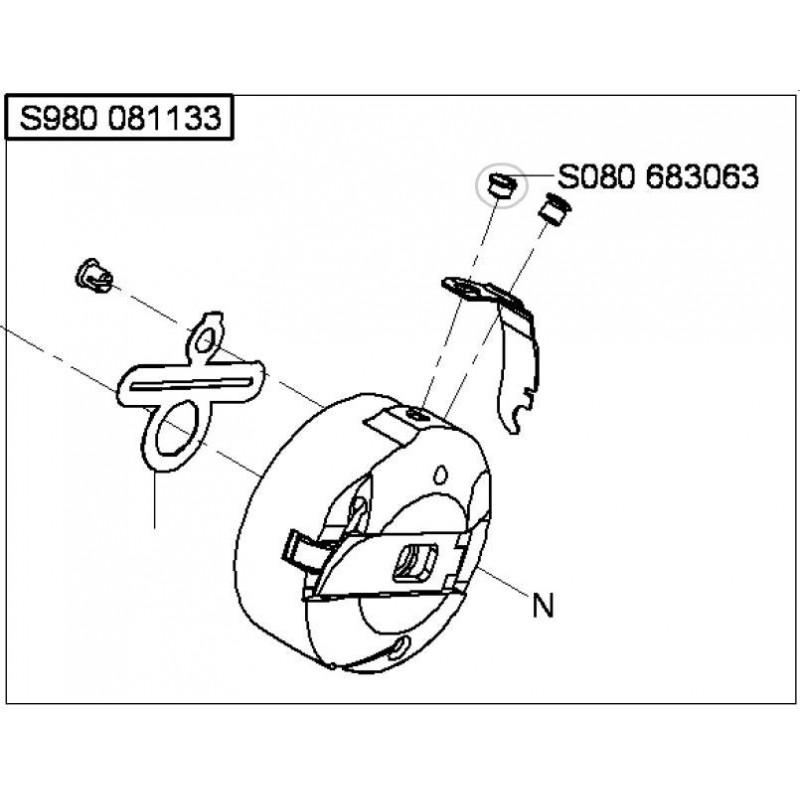 Vis boitier a canette GLOBAL 1567 / DURKOPP 525/527i réf S080683063
