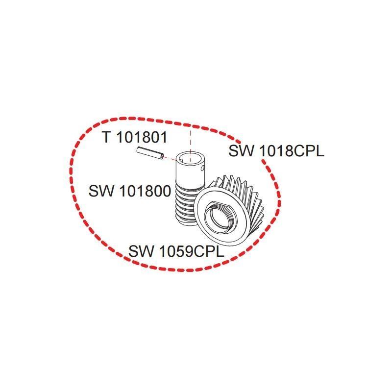 Engrenage complet pignon et vis sans fin SW1018CPL RASOR