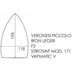 Semelle téflon IRON LEGER / VERONESI P / VAPMATIC V