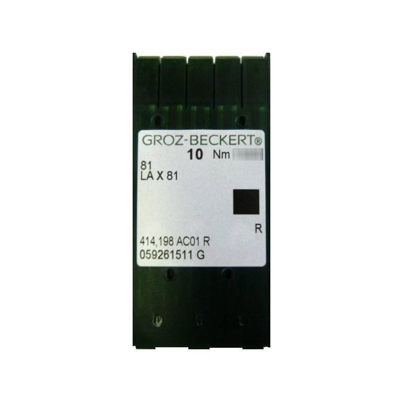 Aiguilles industrielles Groz-Beckert LA X 81 R tous diamètres ( X10 aiguilles )
