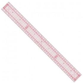 Règle japonaise flexible transparente de 50cm