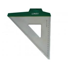 Equerre transparente 21cm 45° bords anti-tâches
