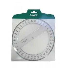 Rapporteur transparent cercle entier 360°