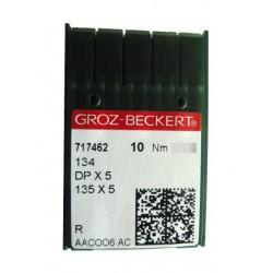 Aiguilles industrielles Groz-Beckert 134 R tous diamètres ( X10 aiguilles)