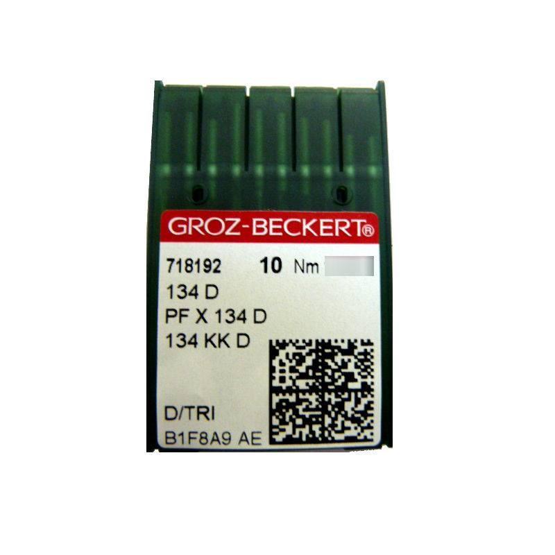 Aiguilles industrielles Groz-Beckert 134 D tous diamètres (X10 aiguilles)