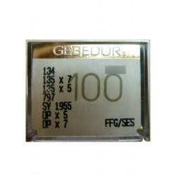 Aiguilles pour machine a coudre industrielle Groz-Beckert 134 FFG / SES GEBEDUR (X10 aiguilles)