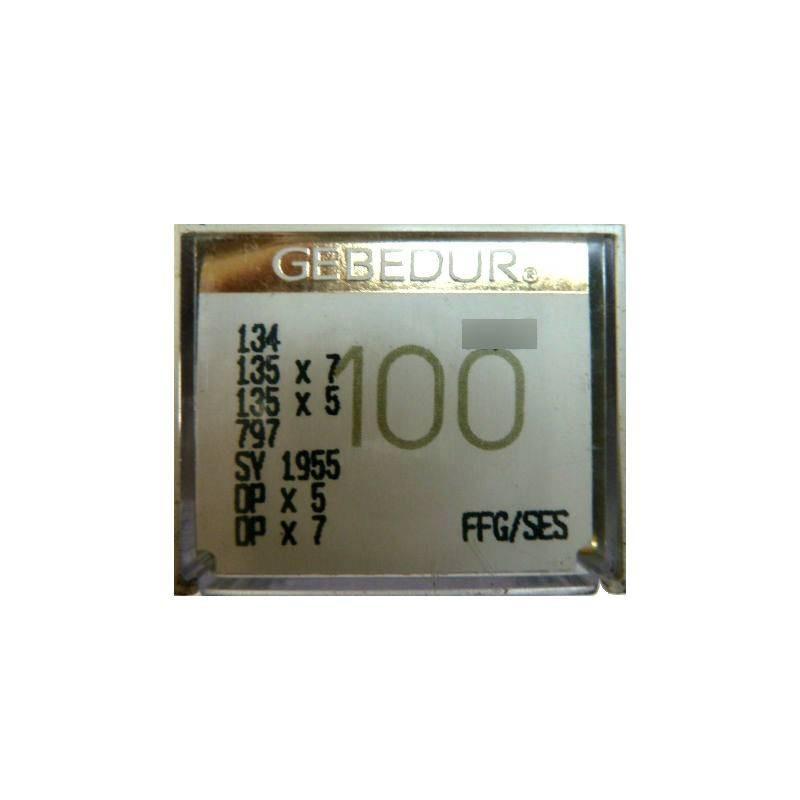 Aiguilles industrielles Groz-Beckert 134 FFG / SES GEBEDUR ( X10 aiguilles )