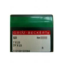 Aiguilles pour machine a coudre industrielle Groz-Beckert 7X23 R (X50 aiguilles)