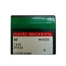 Aiguilles industrielles Groz-Beckert 7X23 R tous diamètres  ( X50 aiguilles)