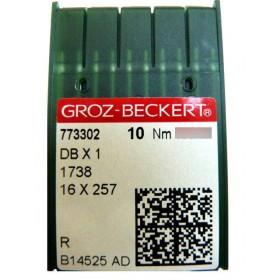 Aiguilles industrielles Groz-Beckert 16X257 R tous diamètres (X10 aiguilles)