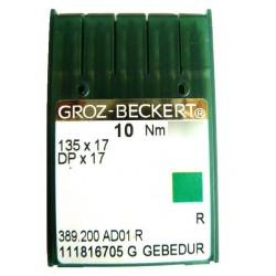 Aiguilles industrielles Groz-Beckert 135x17 R GEBEDUR tous diamètres ( X10 aiguilles )
