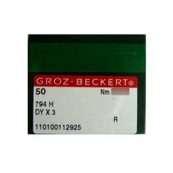 Aiguilles pour machine a coudre industrielle Groz-Beckert 794 H R (X50 aiguilles)