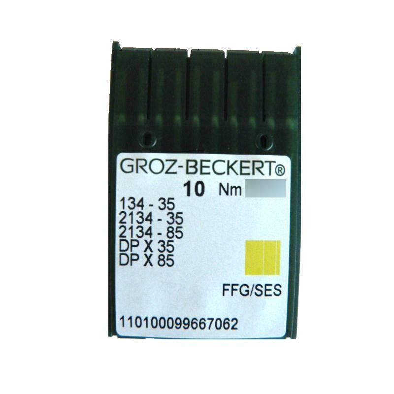 Aiguilles industrielles Groz-Beckert 134-35 FFG tous diamètres (X10 aiguilles)