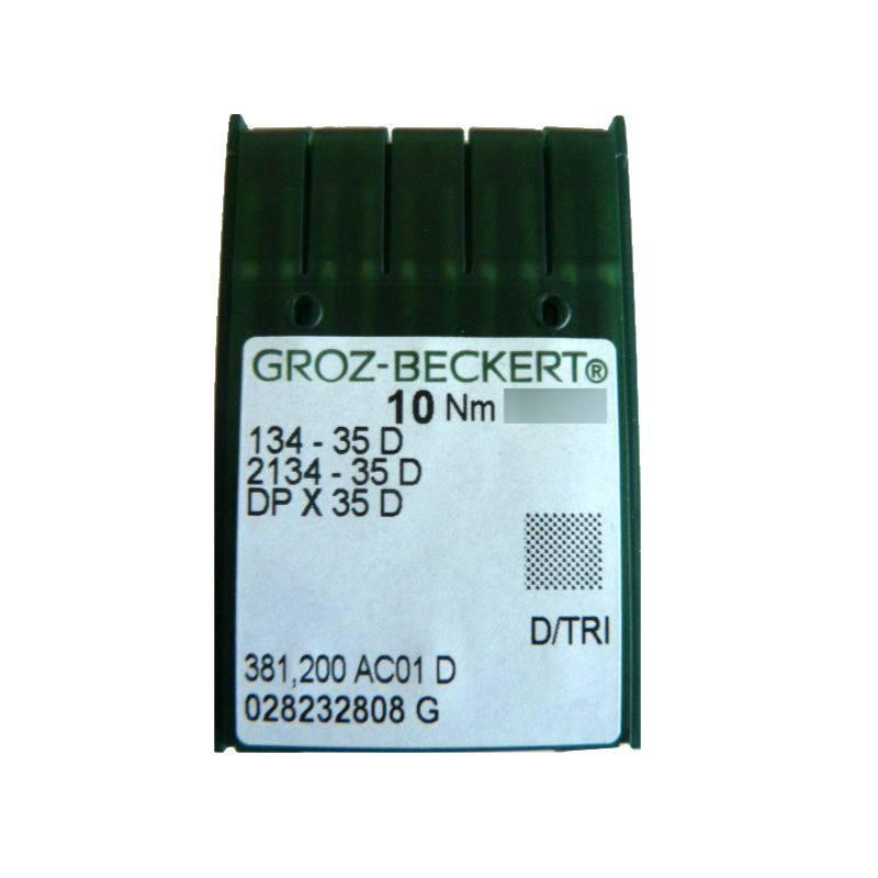 Aiguilles industrielles Groz-Beckert 134-35 D tous diamètres (X10 aiguilles)