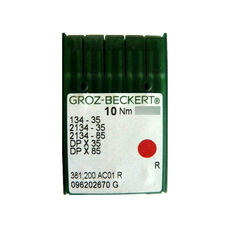 Aiguilles industrielles Groz-Beckert 134-35 R tous diamètres (X10 aiguilles)