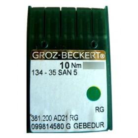 Aiguilles industrielles Groz-Beckert 134-35 SAN 5 RG GEBEDUR tous diamètres (X10 aiguilles)