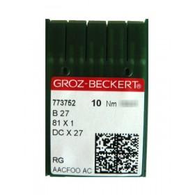 Aiguilles industrielles Groz-Beckert B27 RG tous diamètres (X10 aiguilles)