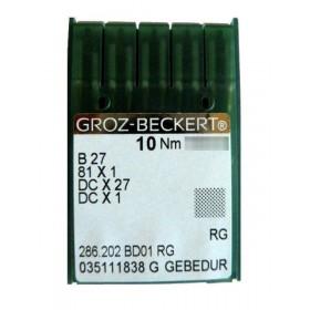 Aiguilles industrielles Groz-Beckert B27 RG GEBEDUR tous diamètres (X10 aiguilles)