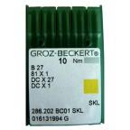 Aiguilles industrielles Groz-Beckert B27 SKL tous diamètres (X10 aiguilles)