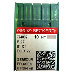 Aiguilles industrielles Groz-Beckert B27 FFG / SES GEBEDUR tous diamètres (X10 aiguilles)