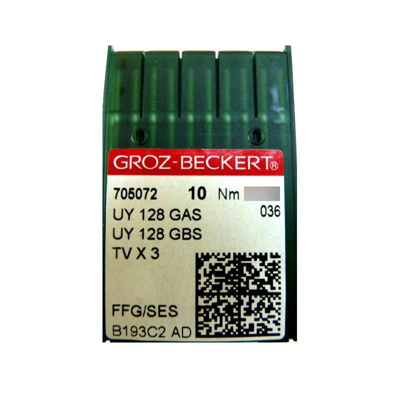 Aiguilles industrielles Groz-Beckert UY 128 GAS FFG/SES tous diamètres ( X10 aiguilles)
