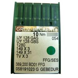 Aiguilles pour machine a coudre industrielle Groz-Beckert UY 128 GAS FFG/SES GEBEDUR (X10 aiguilles)