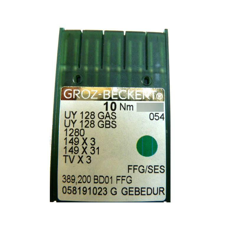 Aiguilles industrielles Groz-Beckert UY 128 GAS FFG/SES gebedur tous diamètres ( X10 aiguilles)