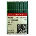 Aiguilles industrielles Groz-Beckert UY 128 GAS FG/SUK tous diamètres ( X10 aiguilles)