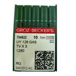 Aiguilles pour machine a coudre industrielle Groz-Beckert UY 128 GAS RG ( X10 aiguilles)