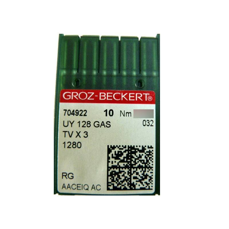 Aiguilles industrielles Groz-Beckert UY 128 GAS RG tous diamètres ( X10 aiguilles)