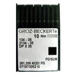Aiguilles pour machine a coudre industrielle Groz-Beckert 134-35 FG/SUK (X10 aiguilles)